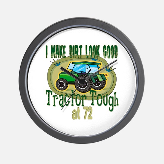 Tractor Tough 72nd Wall Clock