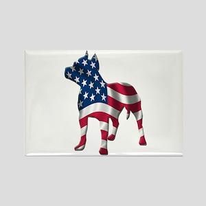 Patriotic Pit Bull Design Rectangle Magnet
