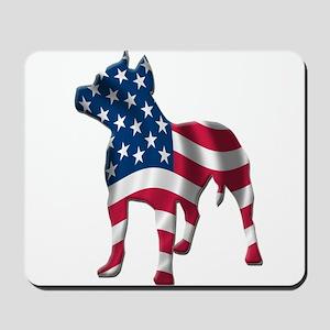Patriotic Pit Bull Design Mousepad