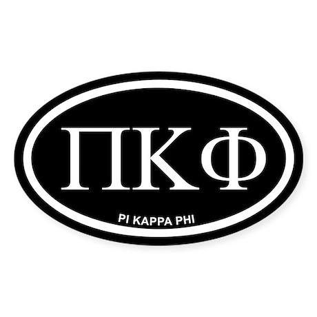 "Pi Kappa Phi ""PKP"" Black Euro Sticker (O"