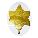 Licensed Junk Dealer Oval Ornament