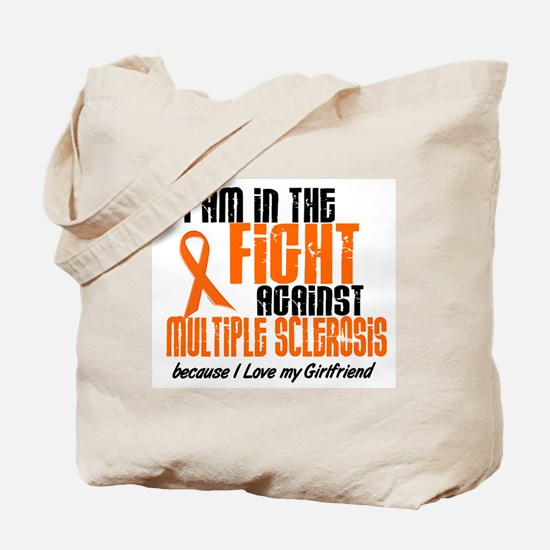 In The Fight Against MS 1 (Girlfriend) Tote Bag