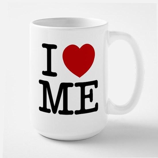 I LOVE ME By RIFFRAFFTEES.COM Large Mug