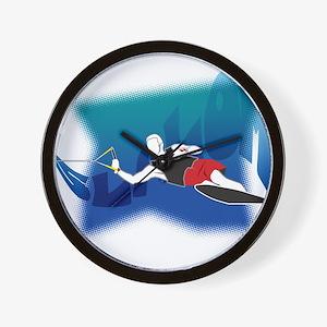 Slalom Waterskier Wall Clock