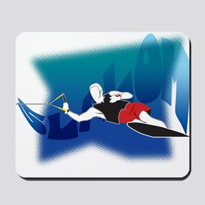 Slalom Waterskier Mousepad