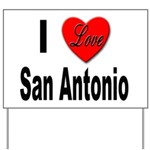 I Love San Antonio Yard Sign