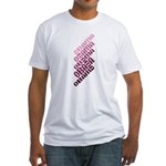 Stacked Obama Purple Fitted T-Shirt