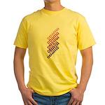 Stacked Obama Purple Yellow T-Shirt