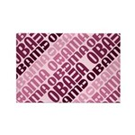 Stacked Obama Purple Rectangle Magnet