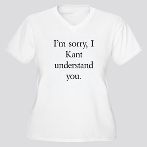 Immanuel Kant Women's Plus Size V-Neck T-Shirt