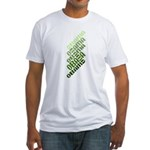 Stacked Obama Green Fitted T-Shirt