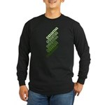 Stacked Obama Green Long Sleeve Dark T-Shirt
