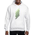 Stacked Obama Green Hooded Sweatshirt