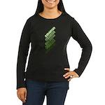 Stacked Obama Green Women's Long Sleeve Dark T-Shi