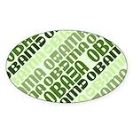 Stacked Obama Green Oval Sticker (10 pk)