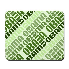 Stacked Obama Green Mousepad