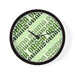 Stacked Obama Green Wall Clock