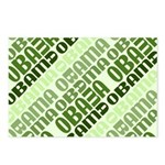 Stacked Obama Green Postcards (Package of 8)