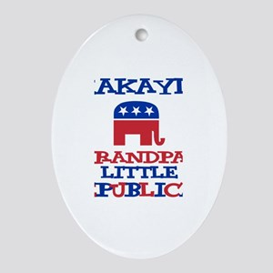 Makayla - Grandpa's Little Re Oval Ornament