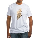 Stacked Obama Brown Fitted T-Shirt