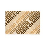 Stacked Obama Brown Rectangle Magnet (100 pack)