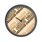 Stacked Obama Brown Wall Clock
