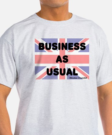 Business as usual -- Winston Ash Grey T-Shirt