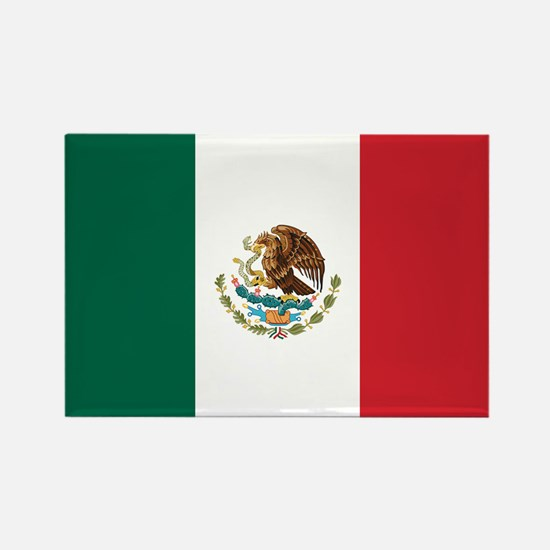 Flag of Mexico Rectangle Magnet