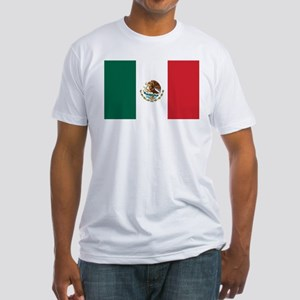 Flag of Mexico Fitted T-Shirt