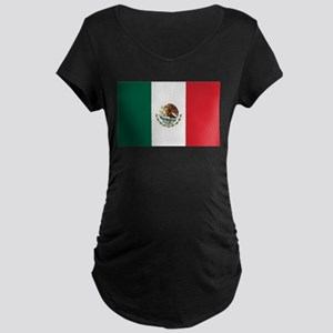 Flag of Mexico Maternity Dark T-Shirt