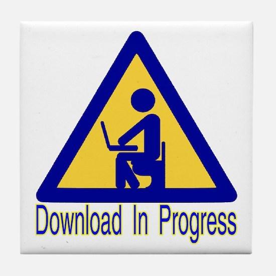 Crappy Download Tile Coaster