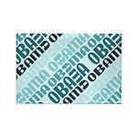 Stacked Obama Blue Rectangle Magnet (100 pack)