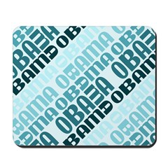 Stacked Obama Blue Mousepad