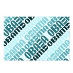 Stacked Obama Blue Postcards (Package of 8)
