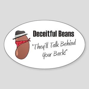 Deceitful Beans Oval Sticker