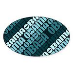 Stacked Obama Blue Oval Sticker (50 pk)