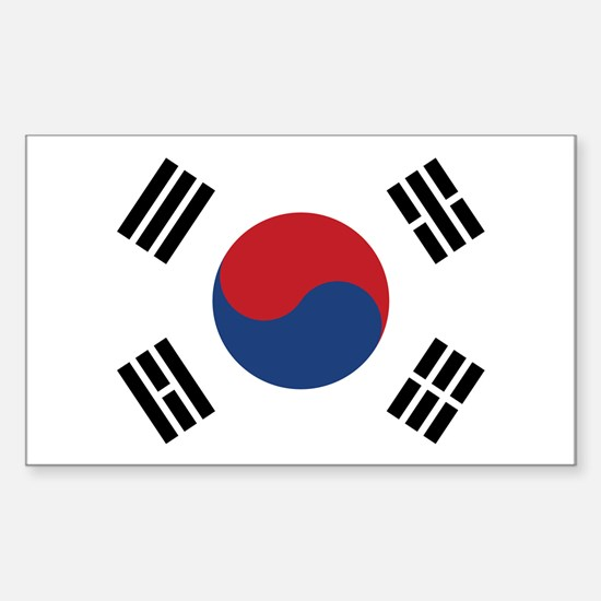 Flag of South Korea Rectangle Decal