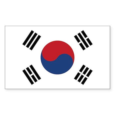 Flag of South Korea Rectangle Sticker 10 pk)