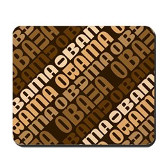 Stacked Obama Brown Mousepad