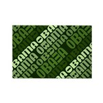 Stacked Obama Green Rectangle Magnet (10 pack)