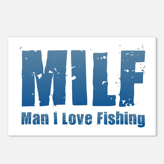 MILF - Man I Love Fishing Postcards (Package of 8)