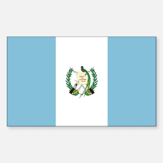 Flag of Guatemala Rectangle Decal