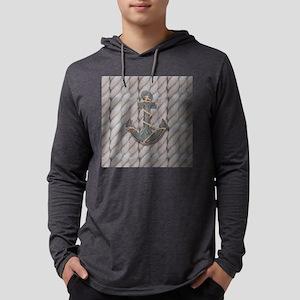 rustic anchor nautical rope Long Sleeve T-Shirt