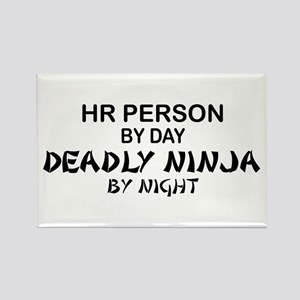 HR Deadly Ninja by Night Rectangle Magnet