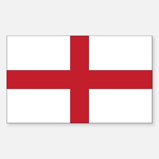 Flag of England Rectangle Decal