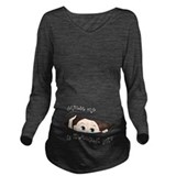 Excuse me is it august yet Dark Long Sleeve Maternity T-Shirt
