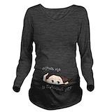 Baby expecting Dark Long Sleeve Maternity T-Shirt