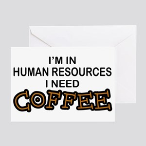 HR Need Coffee Greeting Cards (Pk of 10)