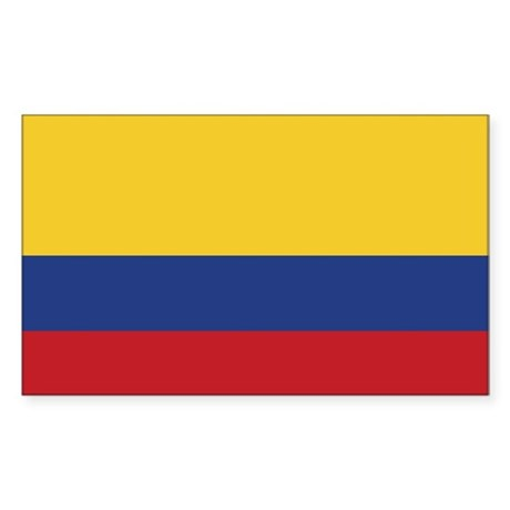 Flag of Colombia Rectangle Sticker