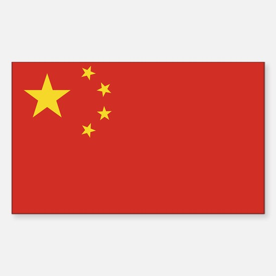 Flag of China Rectangle Decal